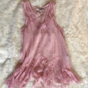 Forever 21 Pink Lace Blouse